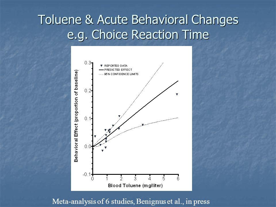 Toluene & Acute Behavioral Changes e.g. Choice Reaction Time