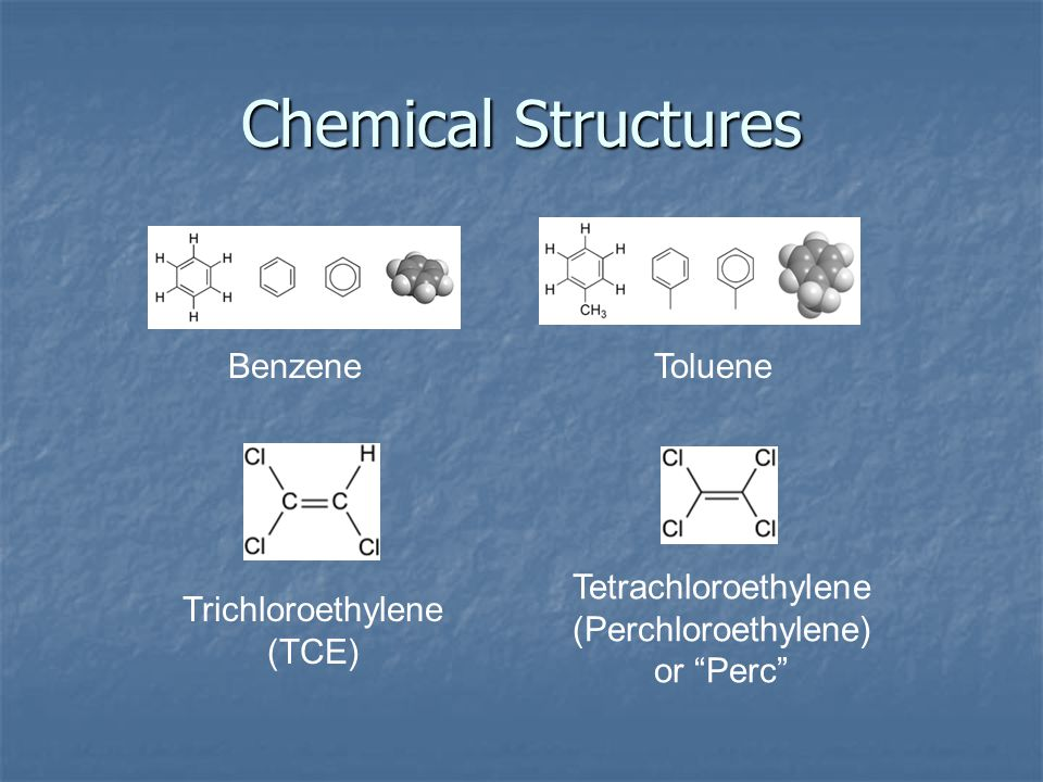 Chemical Structures Benzene Toluene
