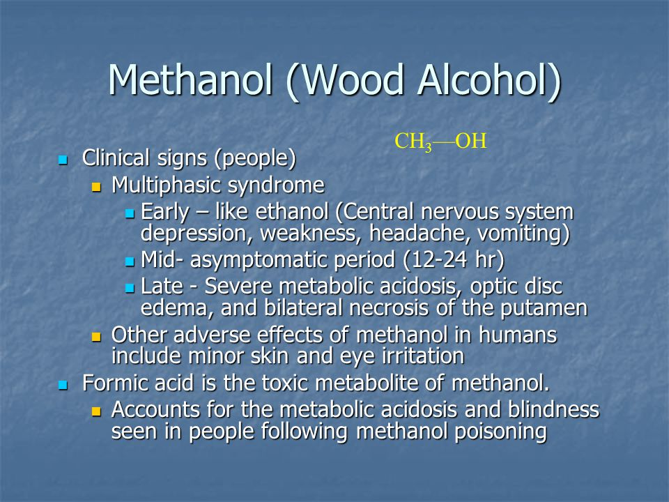 Methanol (Wood Alcohol)