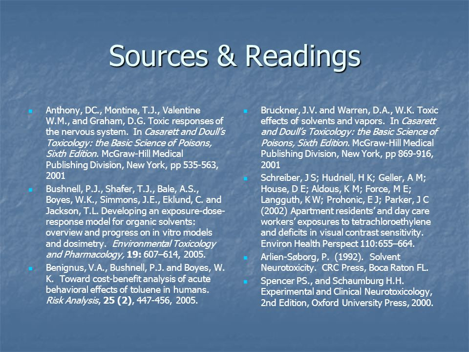 Sources & Readings