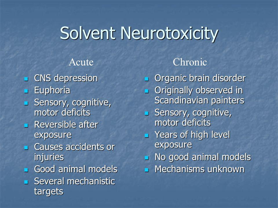 Solvent Neurotoxicity