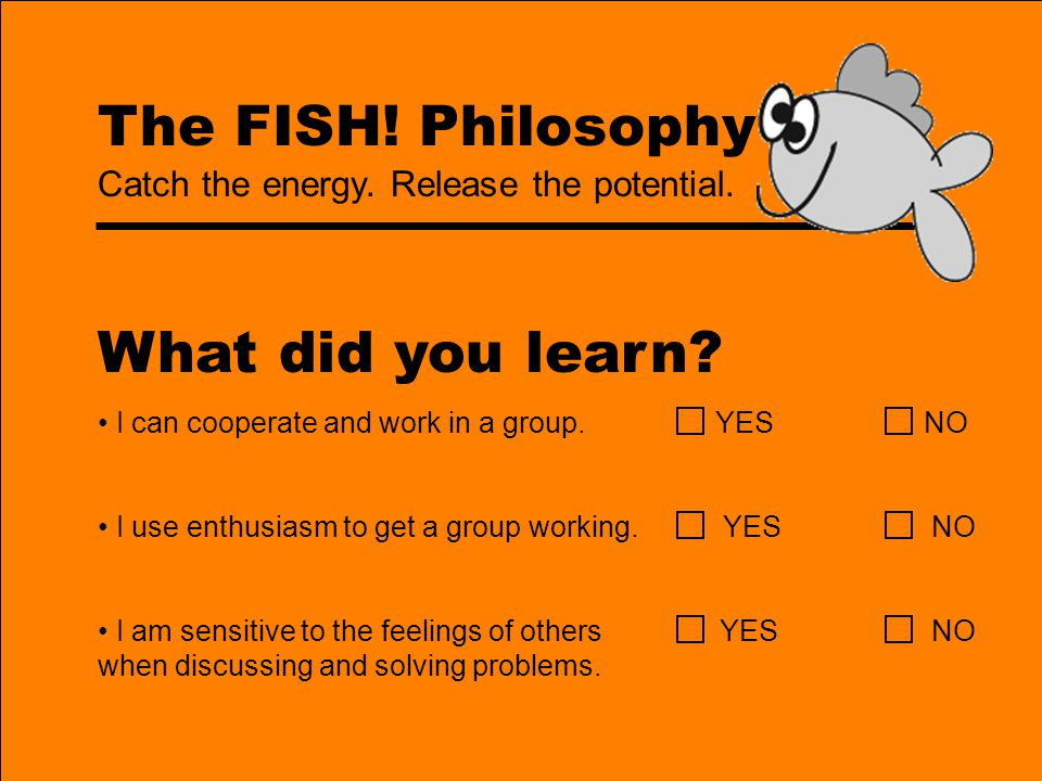 What did you learn The FISH! Philosophy