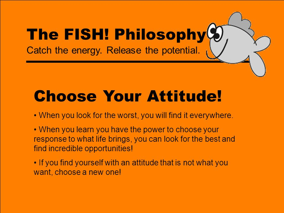 Choose Your Attitude! The FISH! Philosophy