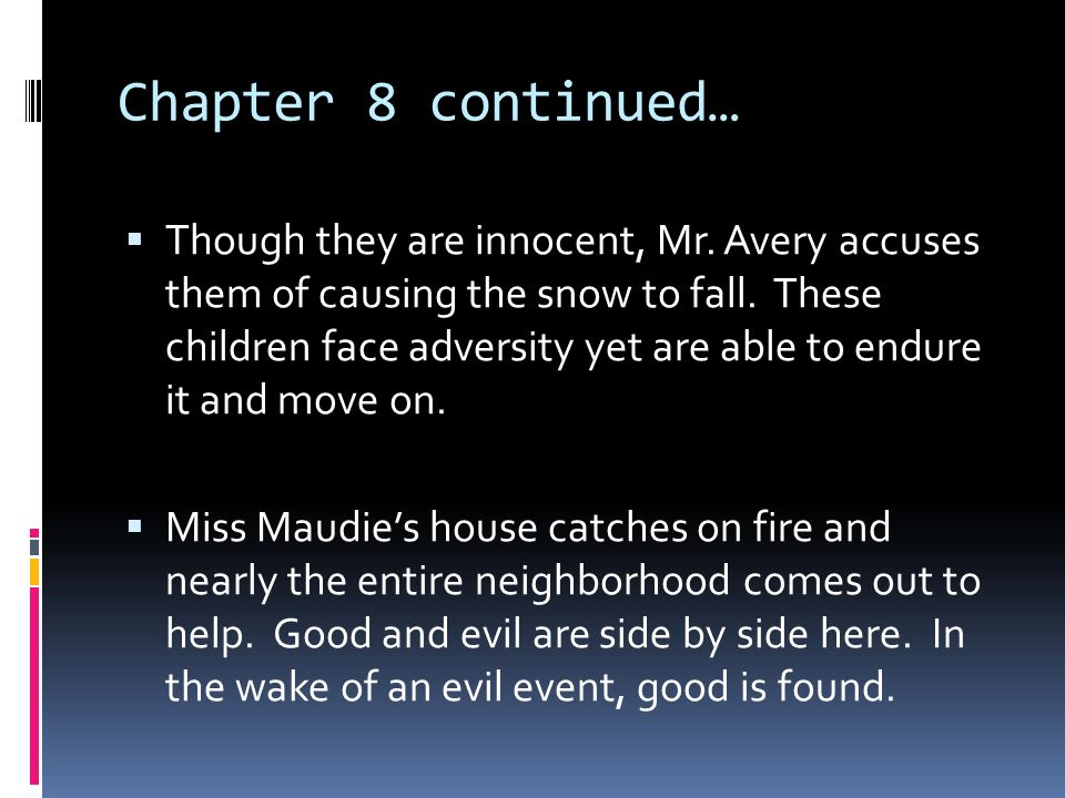 Chapter 8 continued…
