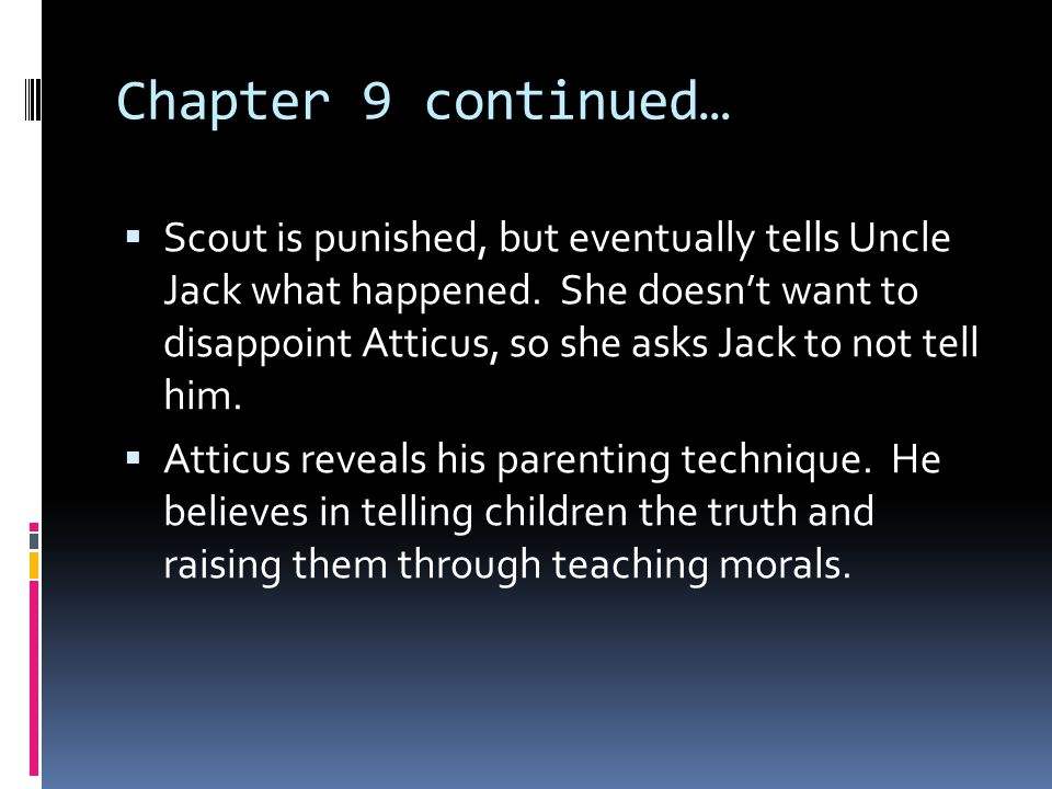Chapter 9 continued…