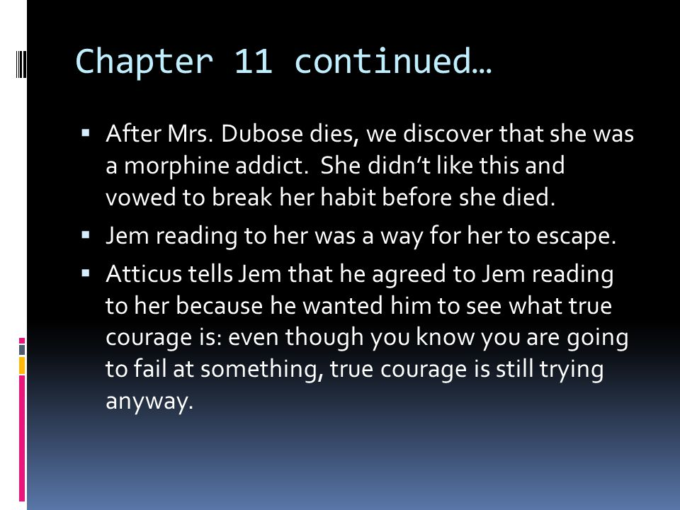 Chapter 11 continued…