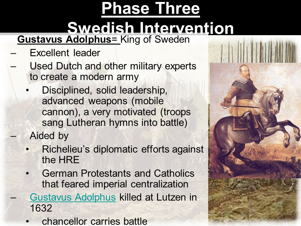 Phase Three Swedish Intervention