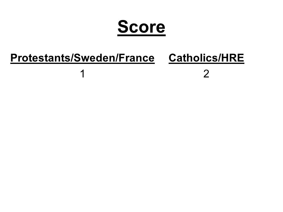 Protestants/Sweden/France