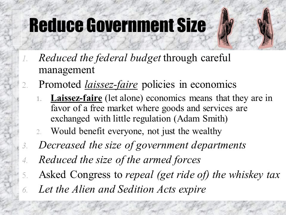 Reduce Government Size