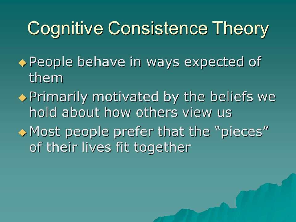 Cognitive Consistence Theory