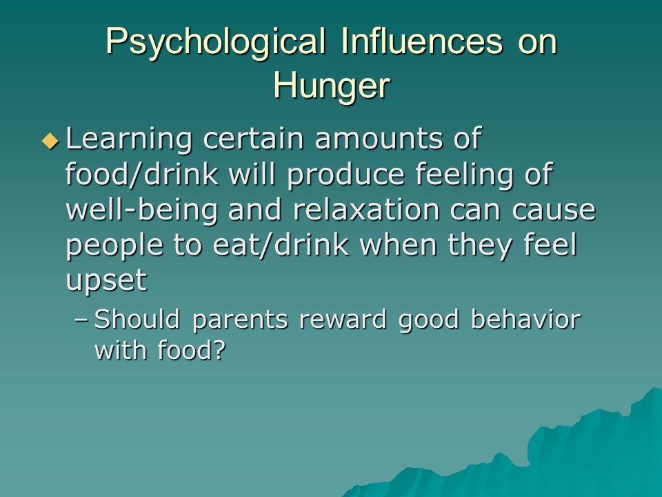 Psychological Influences on Hunger