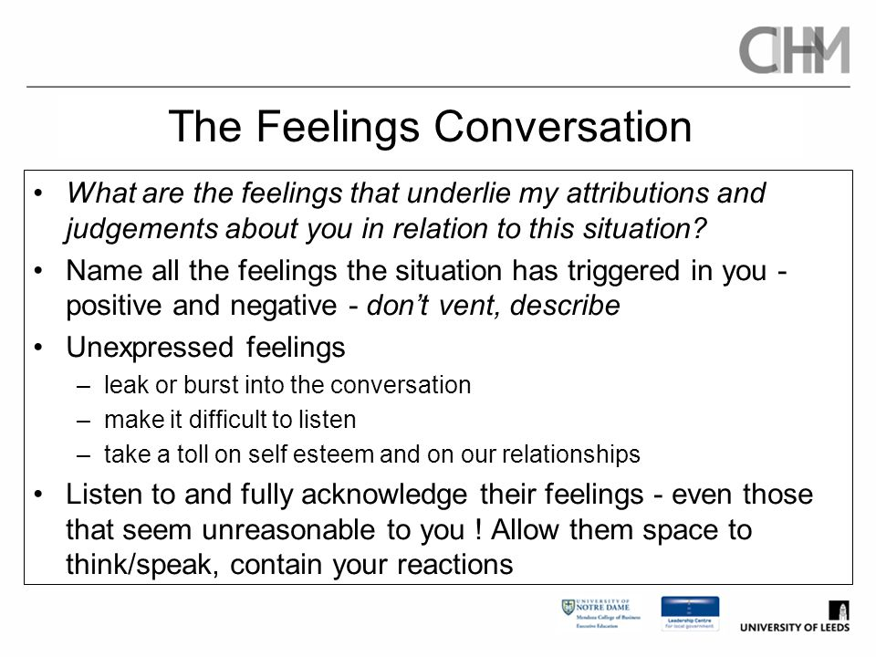 The Feelings Conversation