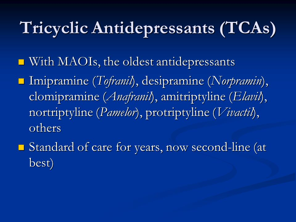 Tricyclic Antidepressants (TCAs)