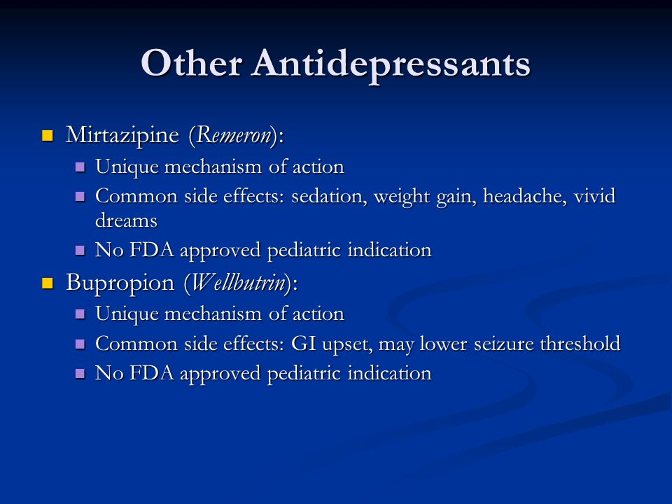 Other Antidepressants