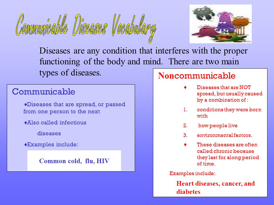 Communicable Diseases Vocabulary