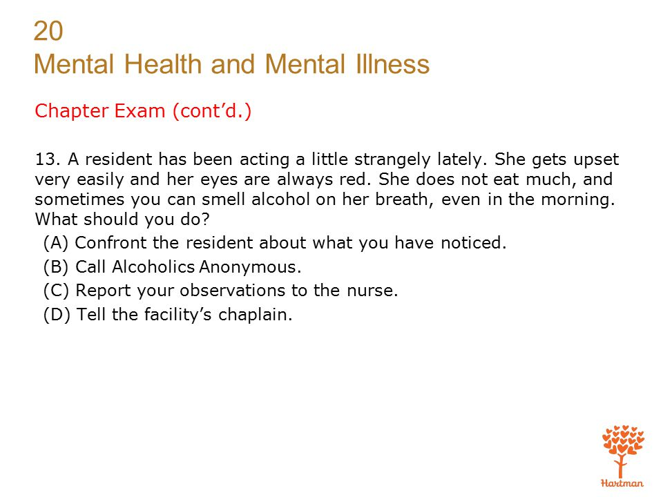 Chapter Exam (cont'd.)