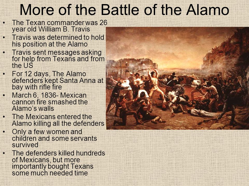 More of the Battle of the Alamo