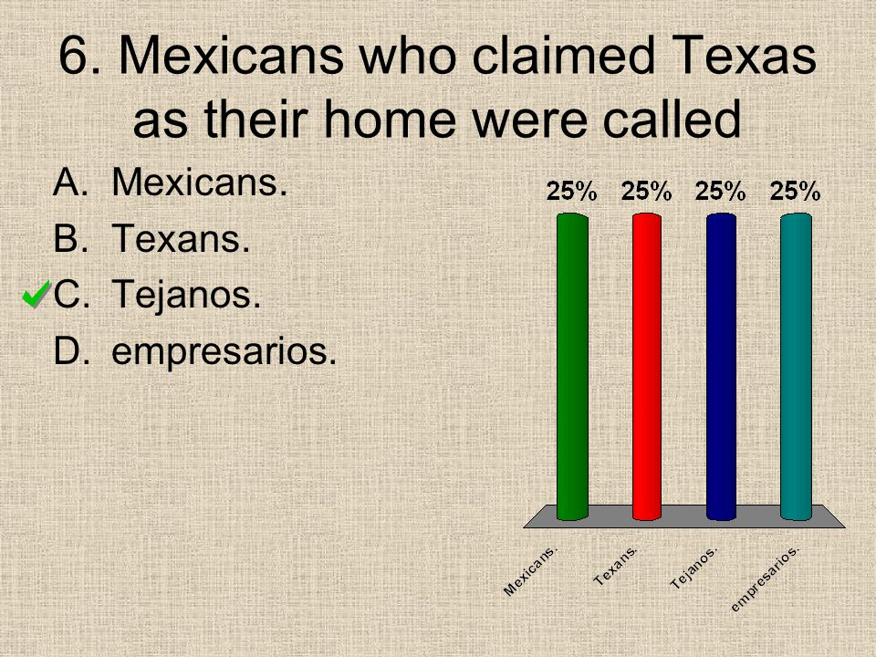6. Mexicans who claimed Texas as their home were called