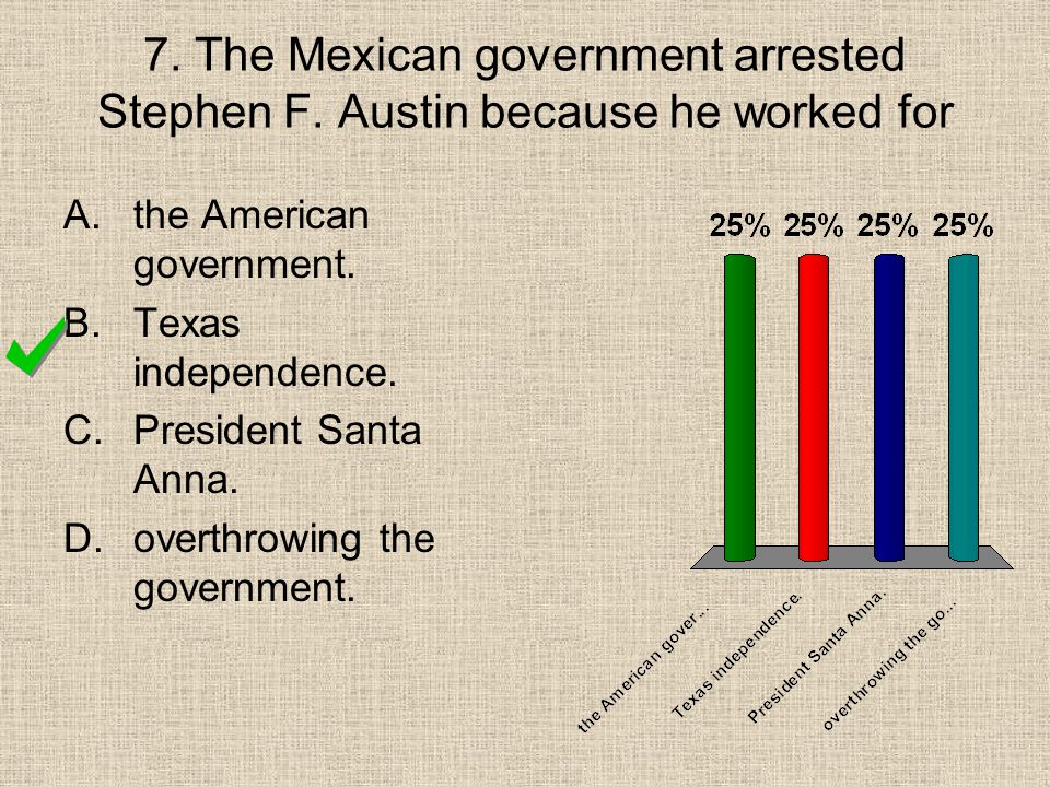 7. The Mexican government arrested Stephen F