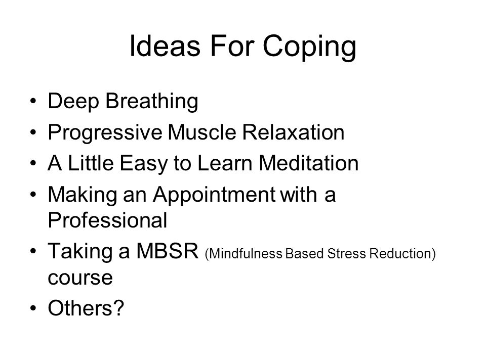 Ideas For Coping Deep Breathing Progressive Muscle Relaxation