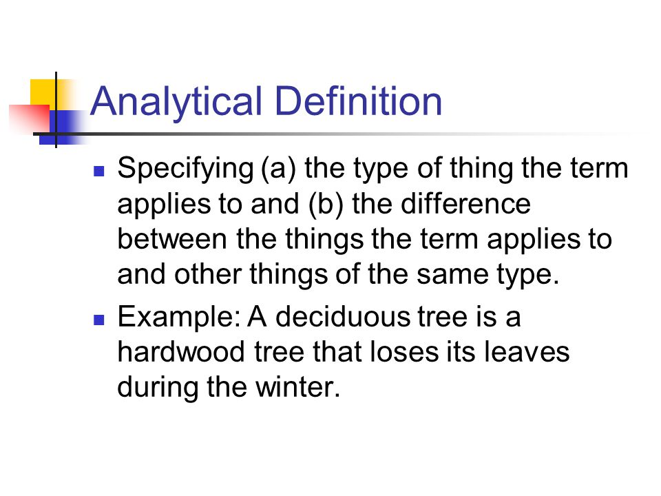 analytical definition example