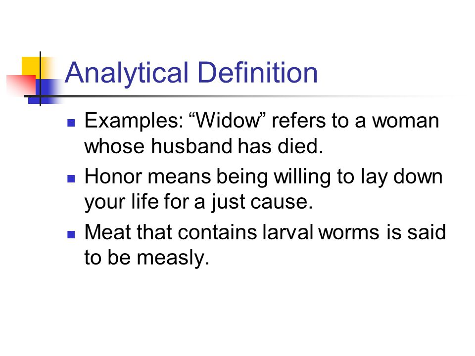 Analytical Definition