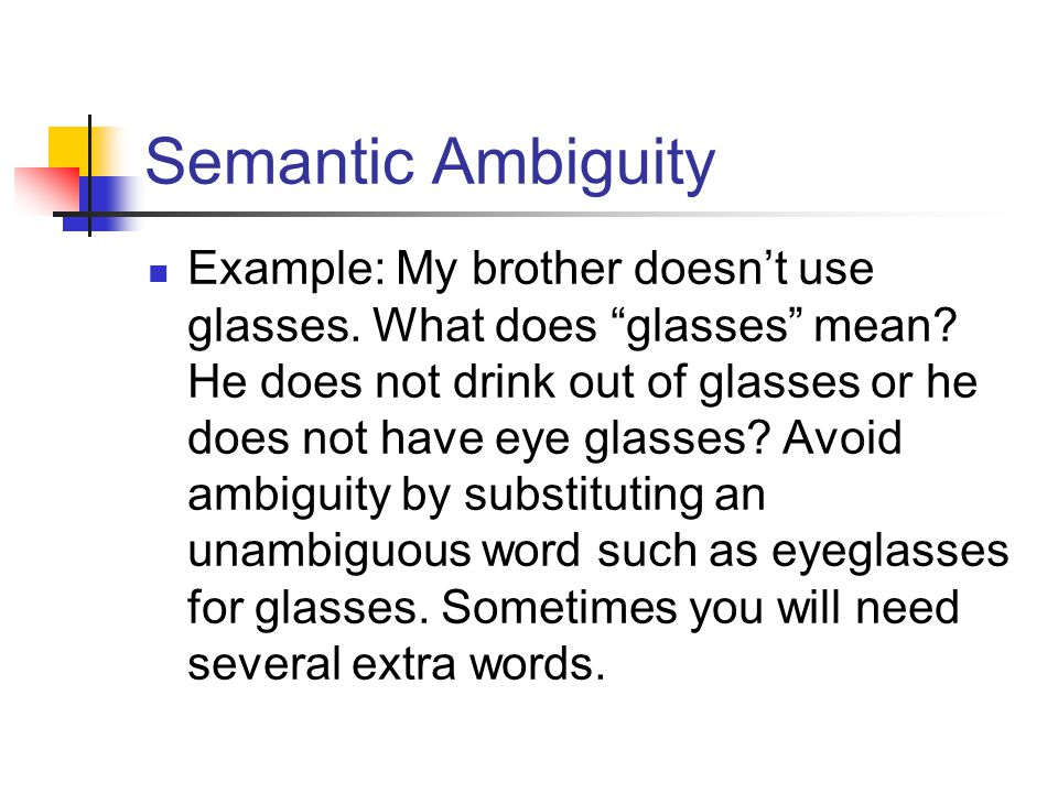 Semantic Ambiguity