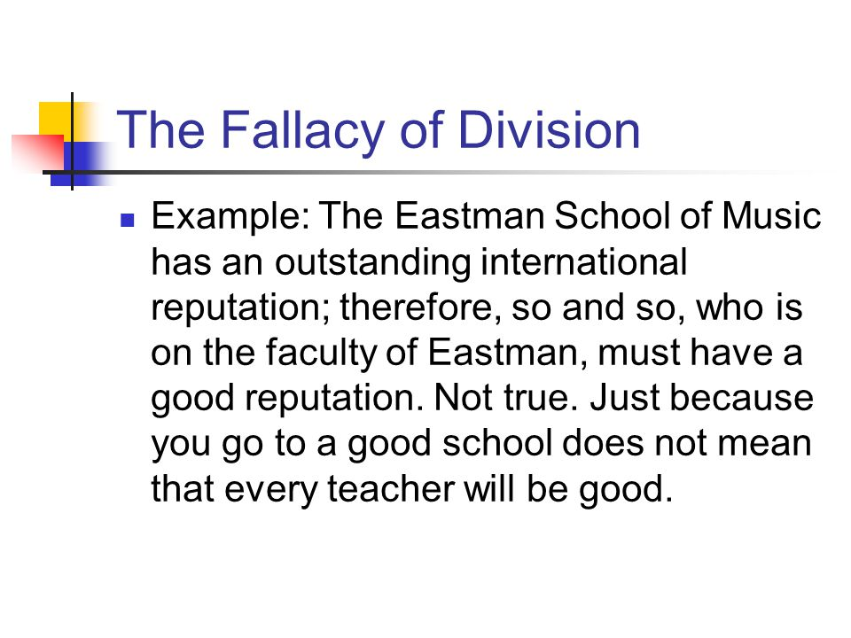 The Fallacy of Division