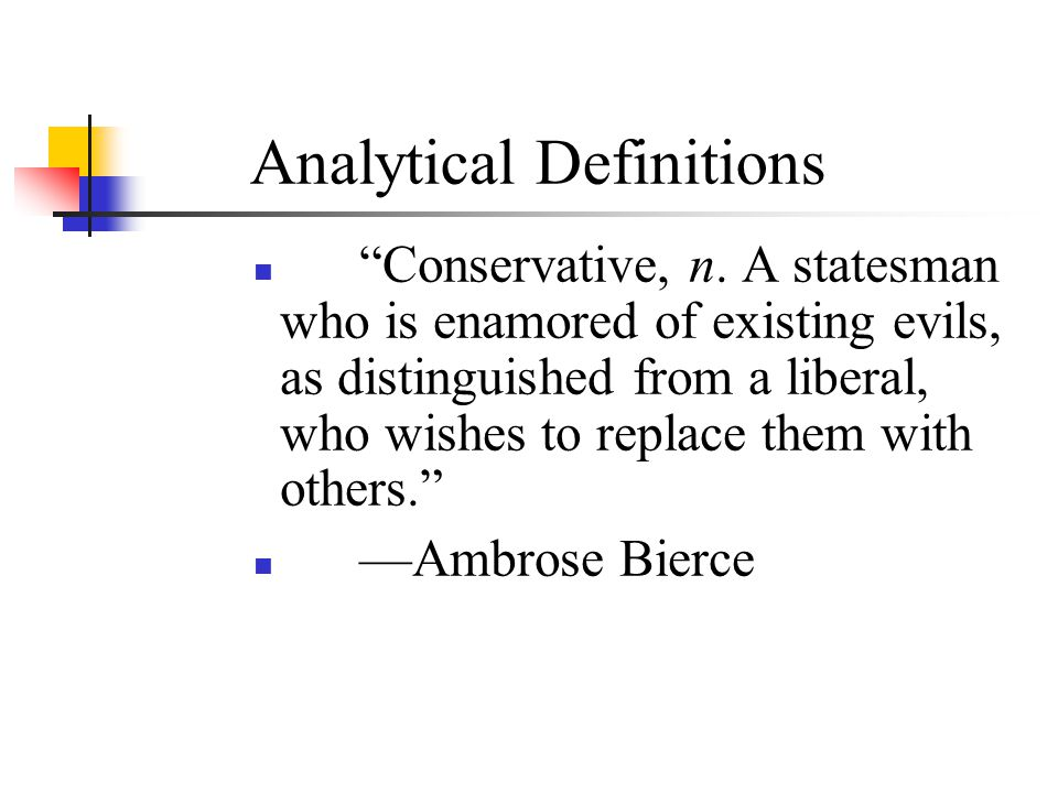 Analytical Definitions
