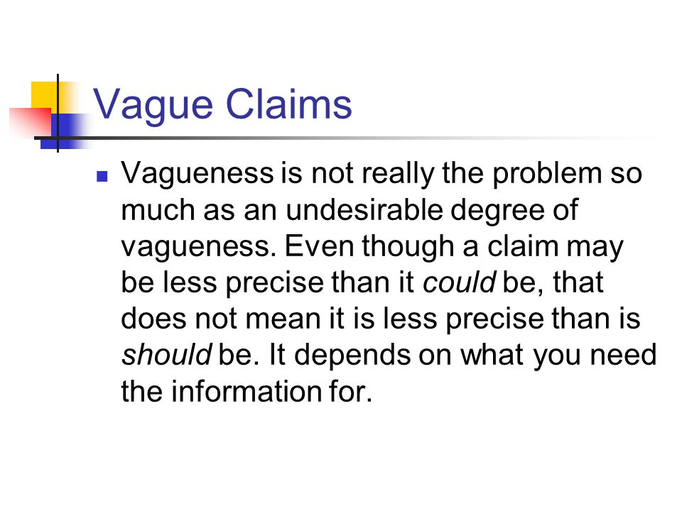 Vague Claims