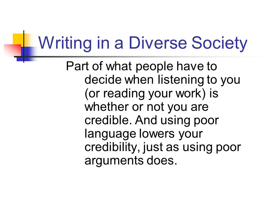 Writing in a Diverse Society