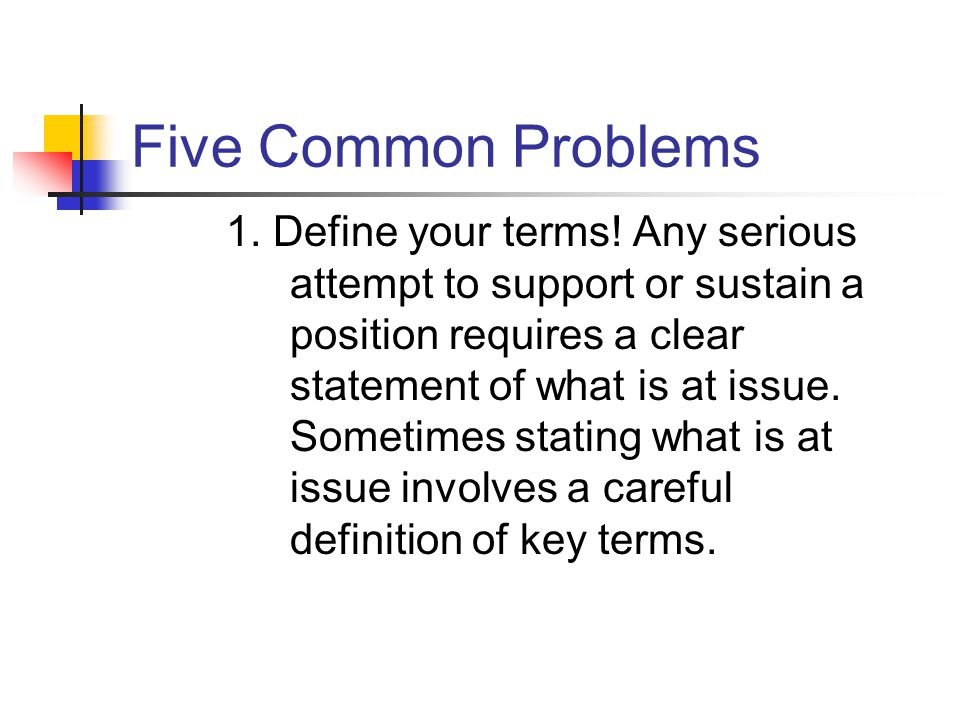 Five Common Problems