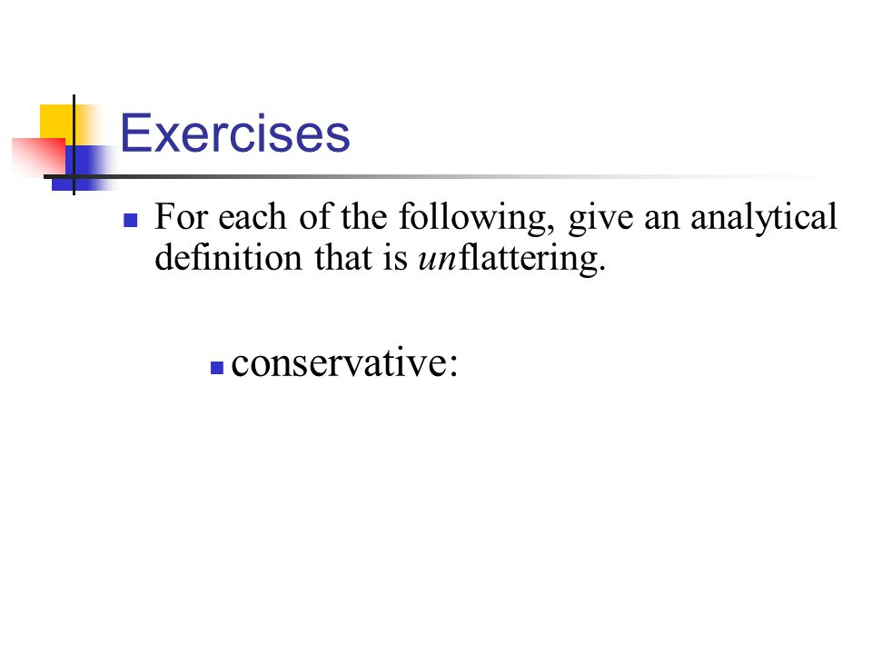 Exercises conservative: