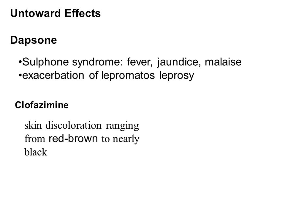 Sulphone syndrome: fever, jaundice, malaise