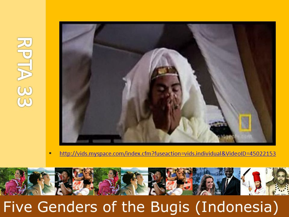 Five Genders of the Bugis (Indonesia)