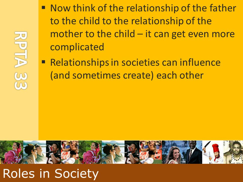 Now think of the relationship of the father to the child to the relationship of the mother to the child – it can get even more complicated