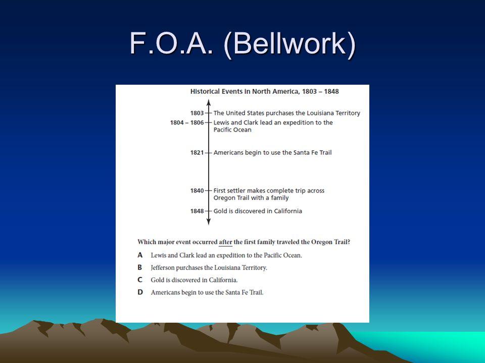 F.O.A. (Bellwork)