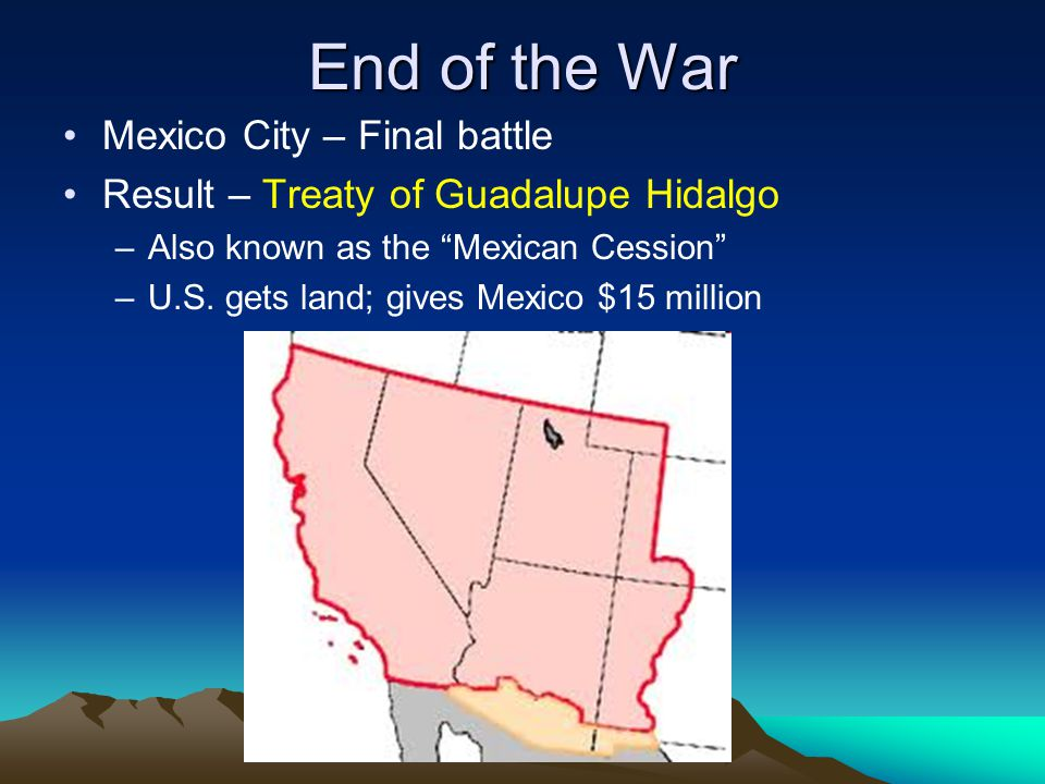 End of the War Mexico City – Final battle