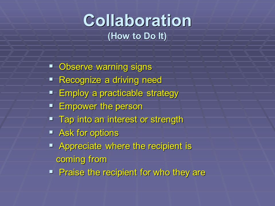 Collaboration (How to Do It)