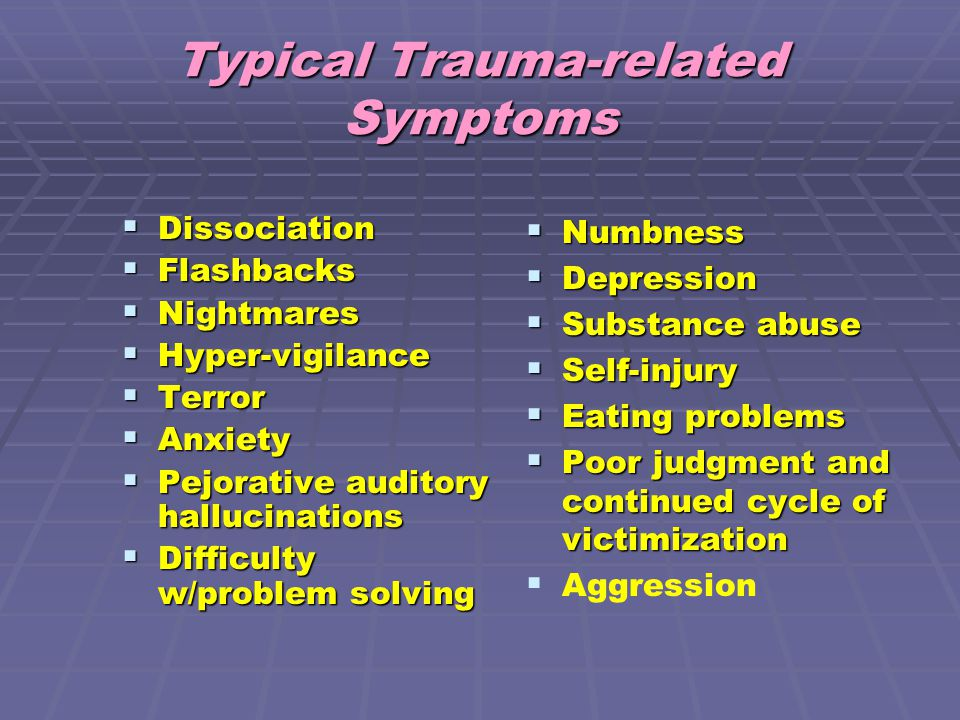 Typical Trauma-related Symptoms