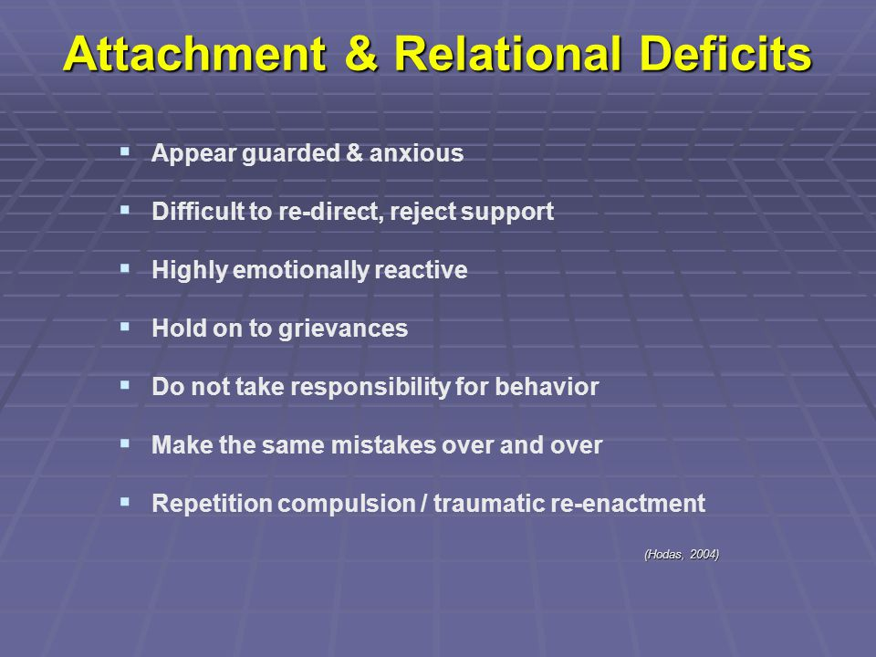 Attachment & Relational Deficits