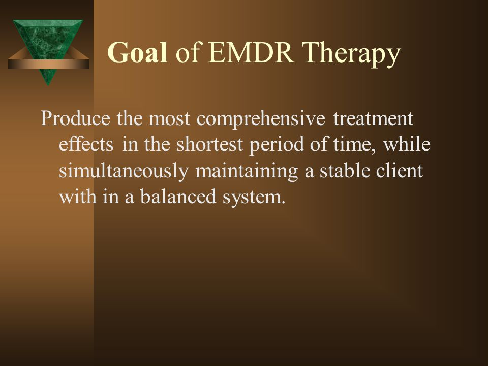 Goal of EMDR Therapy