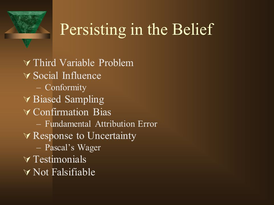 Persisting in the Belief