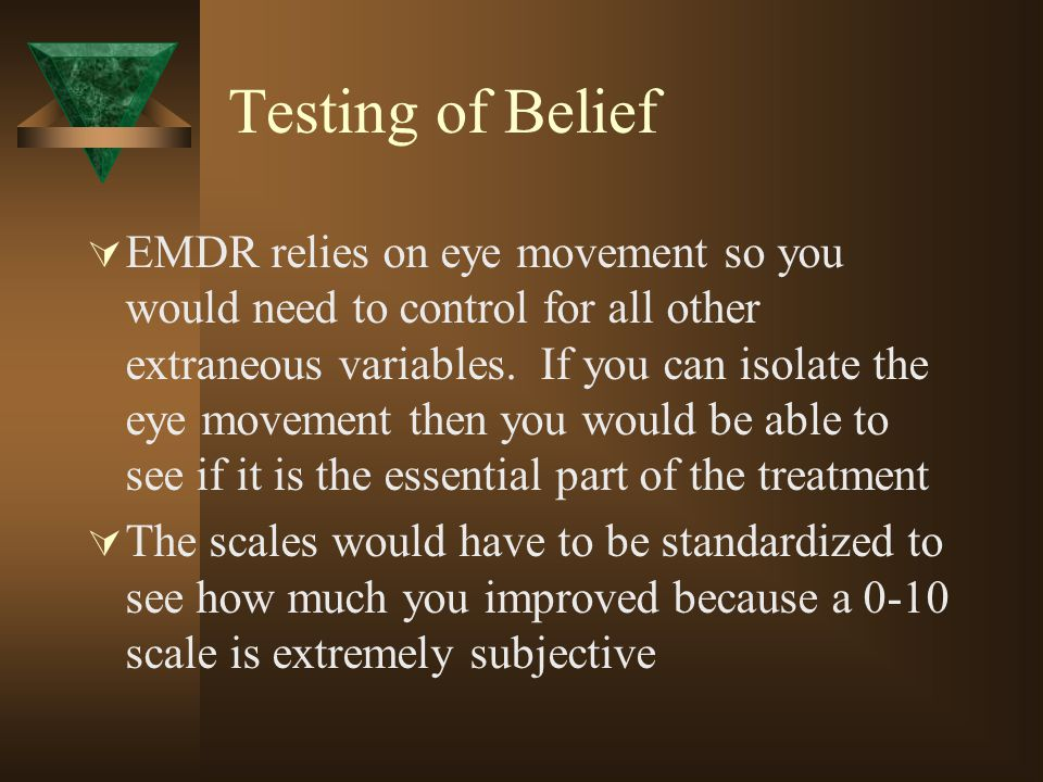 Testing of Belief