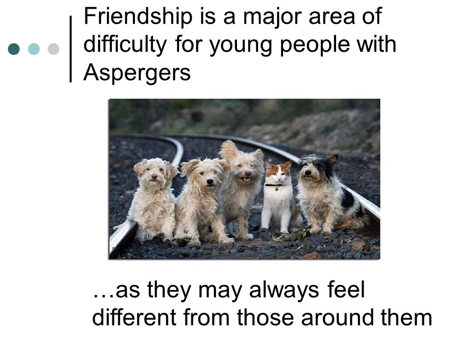 Friendship is a major area of difficulty for young people with Aspergers