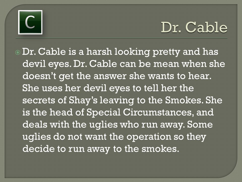 Dr. Cable