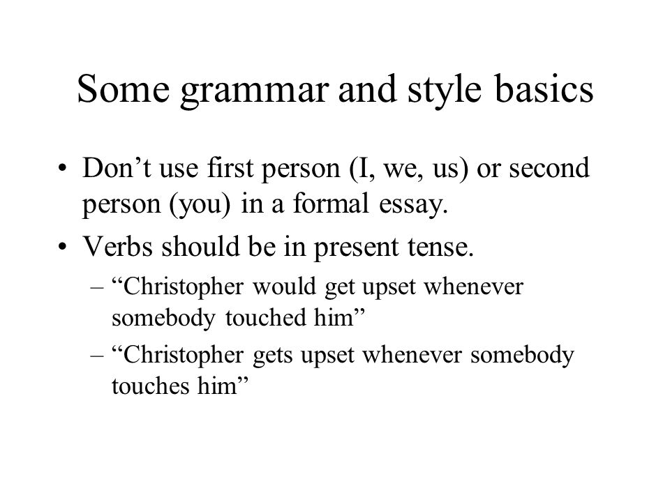Verb Tense for Literature Analysis Essays