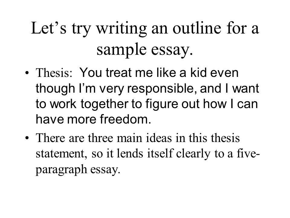 how do u write an outline for an essay