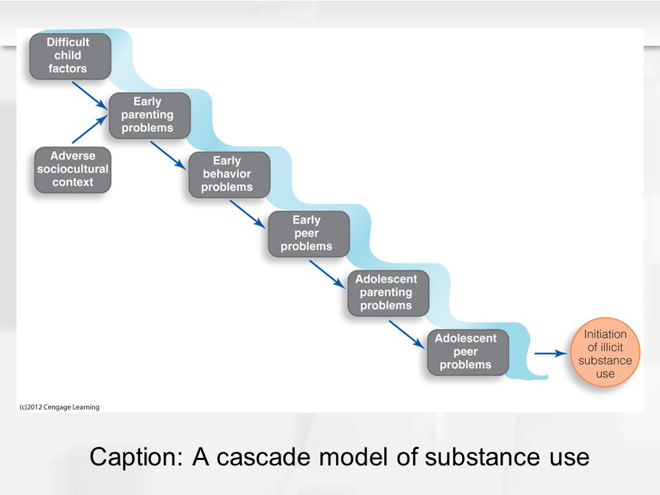 Caption: A cascade model of substance use