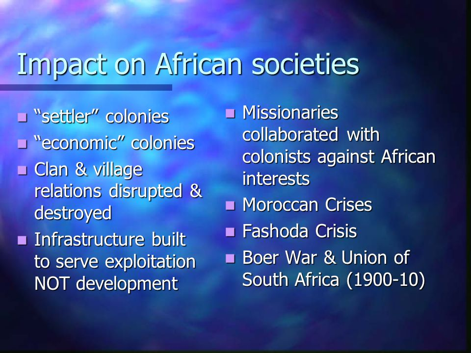 Impact on African societies
